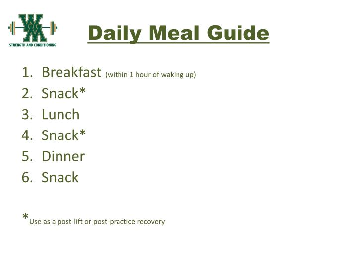 Daily Meal Guide