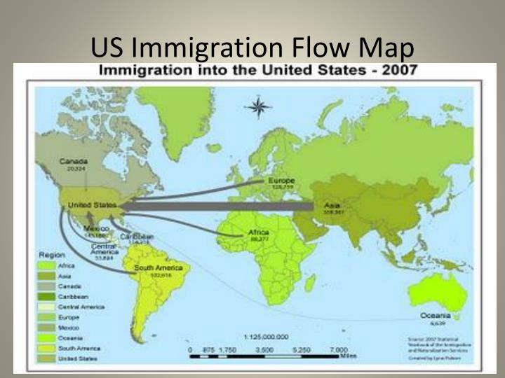 US Immigration Flow Map