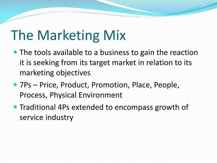 The marketing mix2
