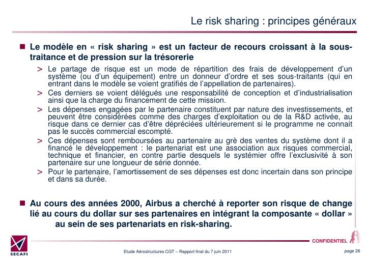 Le risk sharing : principes gnraux
