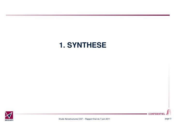 1. SYNTHESE
