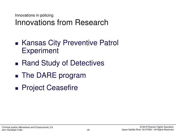 Innovations in policing