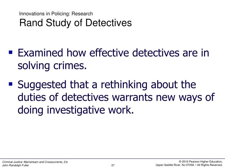 Innovations in Policing: Research