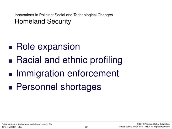 Innovations in Policing: Social and Technological Changes