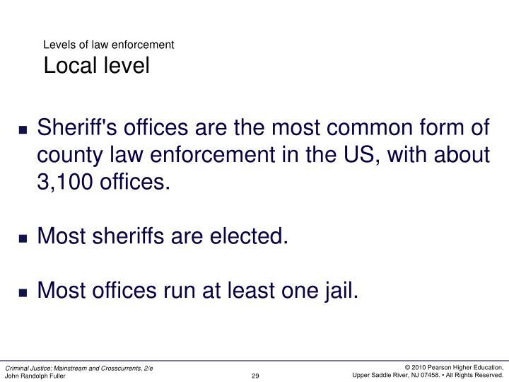 Levels of law enforcement