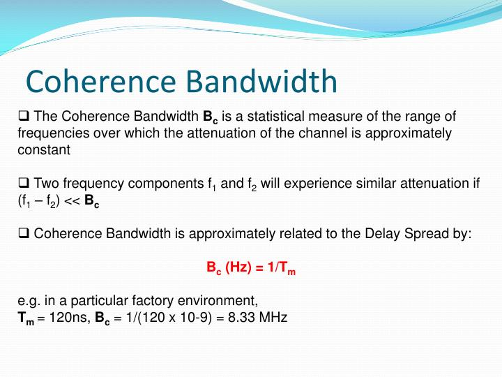 Coherence Bandwidth