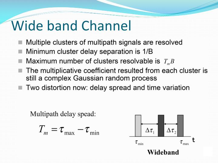 Wide band Channel