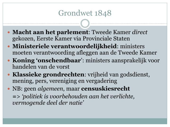 Grondwet 1848