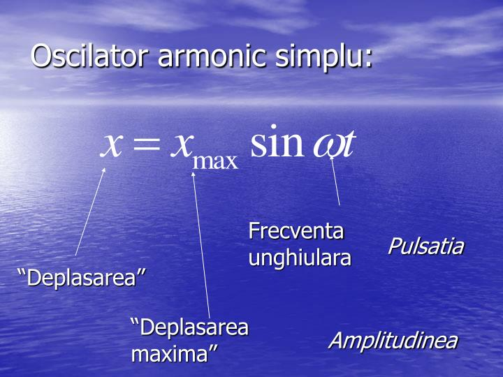Oscilator armonic simplu: