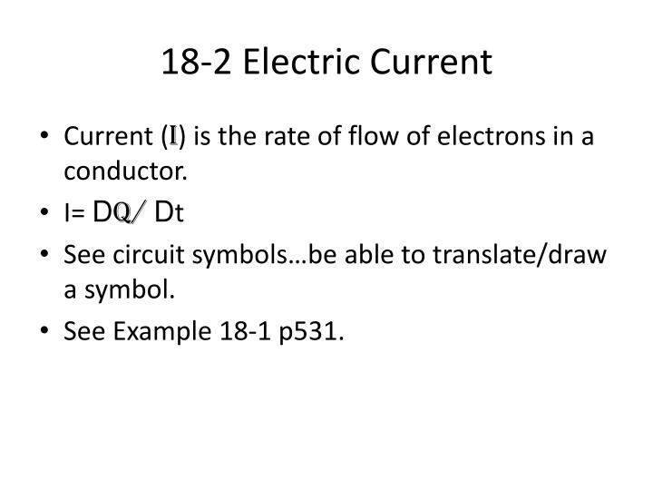 18 2 electric current