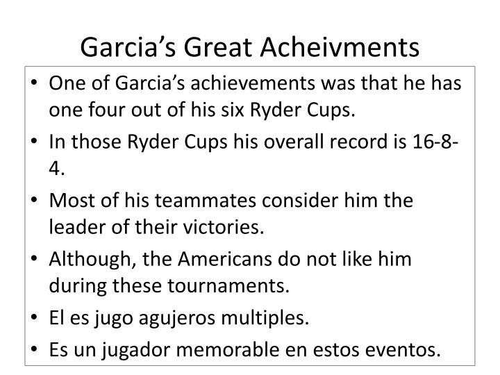 Garcia's Great