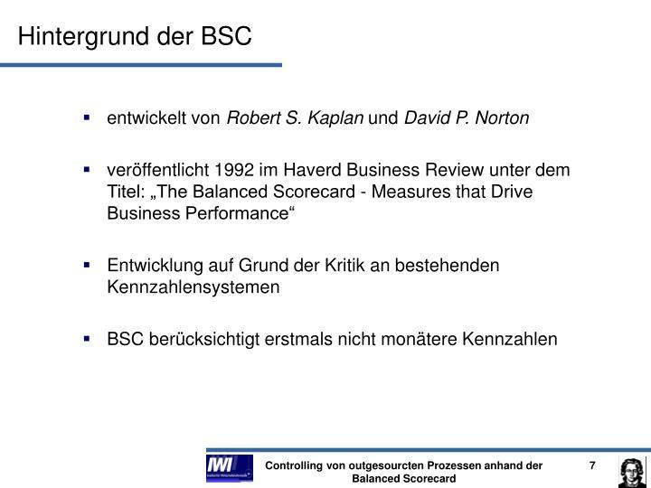 Hintergrund der BSC