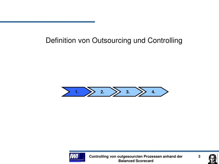 Definition von Outsourcing und Controlling