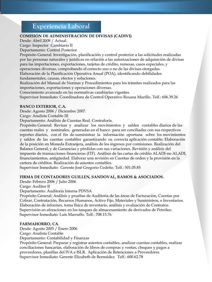 ppt resumen curricular powerpoint presentation id 2996267