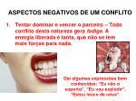 Aspectos negativos de um conflito