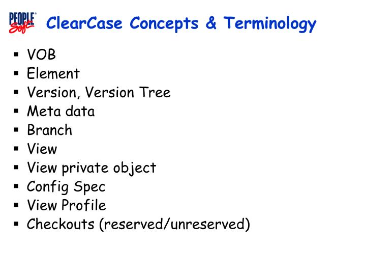 Clearcase concepts terminology