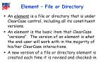 element file or directory