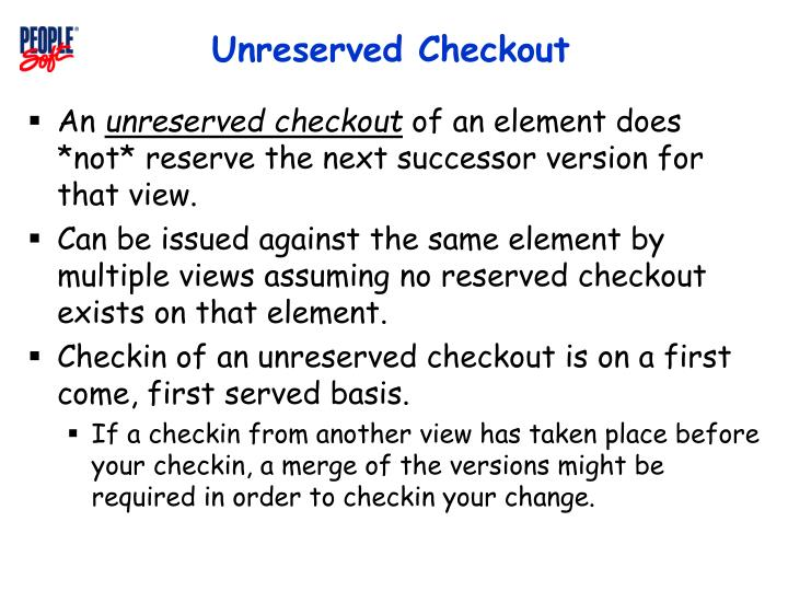 Unreserved Checkout