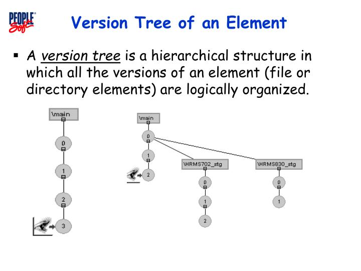 Version Tree of an Element