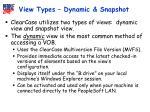 view types dynamic snapshot