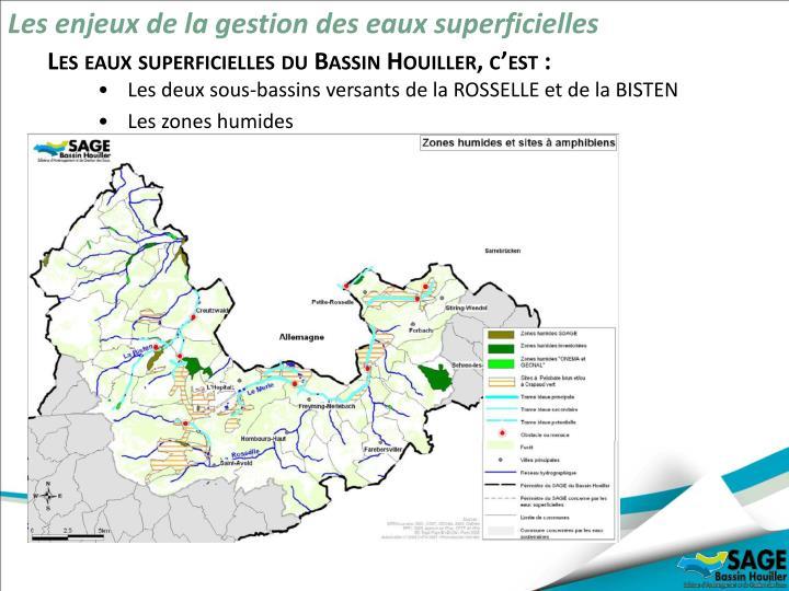 Les enjeux de la gestion des eaux superficielles