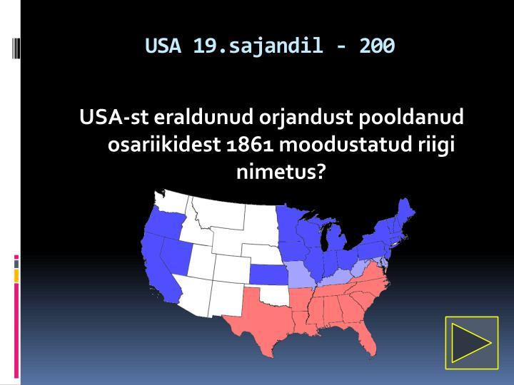 USA 19.sajandil - 200