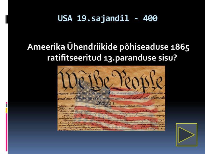 USA 19.sajandil - 400