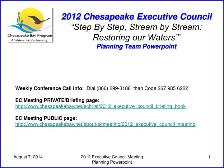 2012 Chesapeake Executive Council