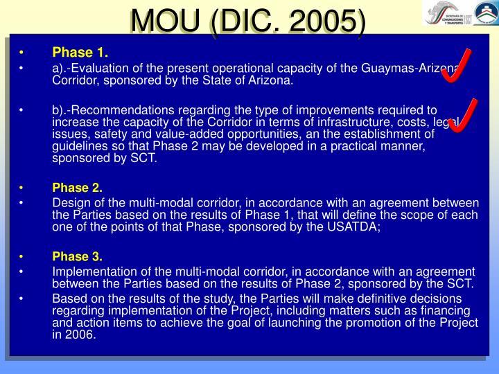 MOU (DIC. 2005)