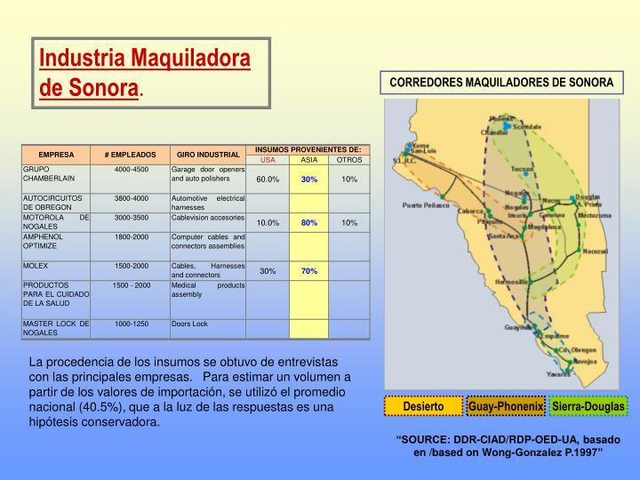 Industria Maquiladora de Sonora