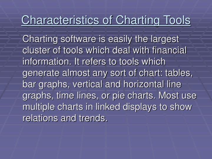 Characteristics of Charting Tools