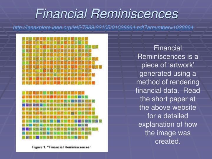 Financial Reminiscences