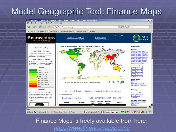 Model Geographic Tool: Finance Maps