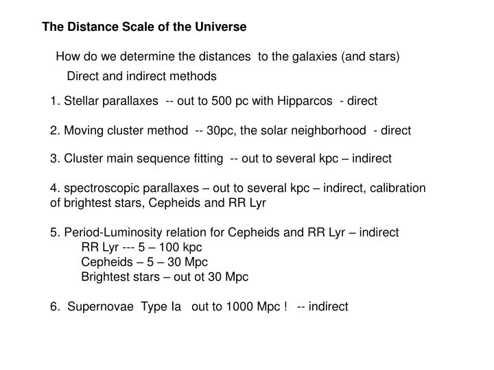 The Distance Scale of the Universe