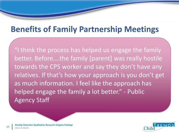 Benefits of Family Partnership Meetings