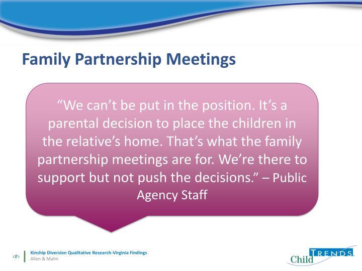 Family Partnership Meetings
