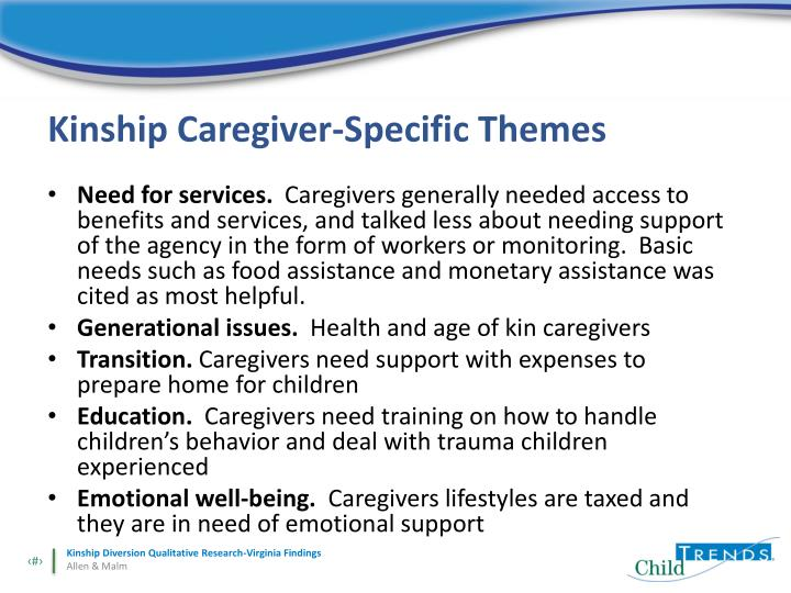 Kinship Caregiver-Specific Themes