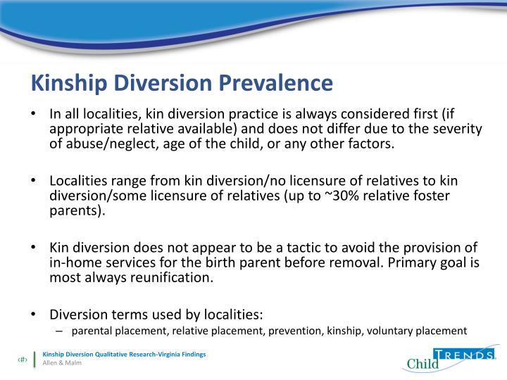 Kinship Diversion Prevalence