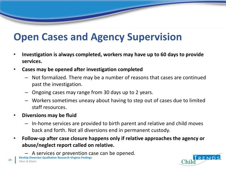 Open Cases and Agency Supervision