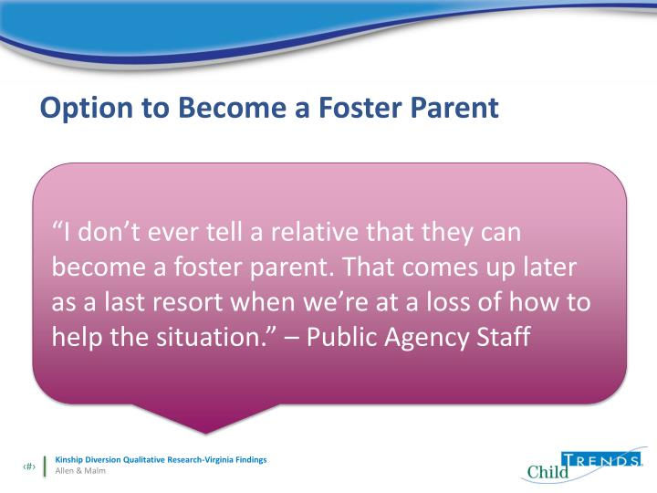 Option to Become a Foster Parent