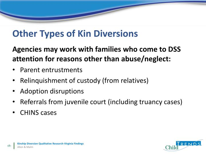 Other Types of Kin Diversions