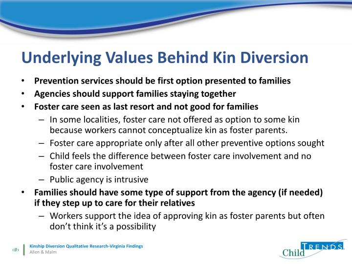 Underlying Values Behind Kin Diversion