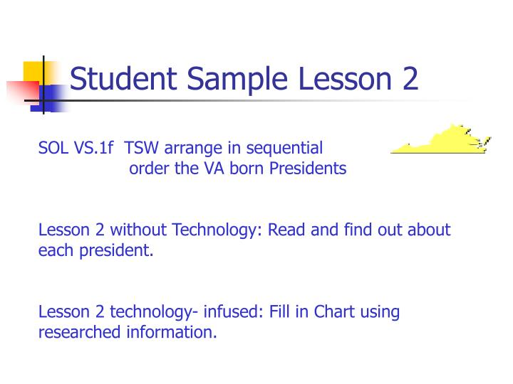 Student Sample Lesson 2