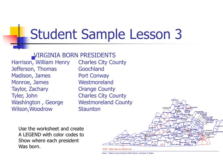 Student Sample Lesson 3