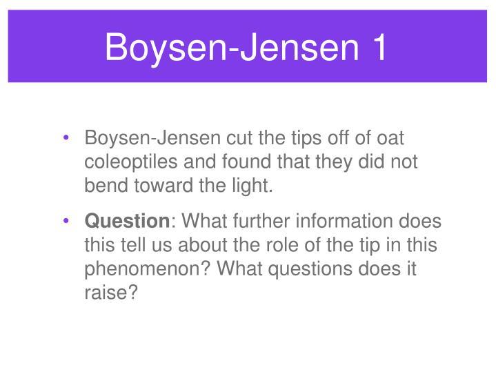 Boysen-Jensen 1