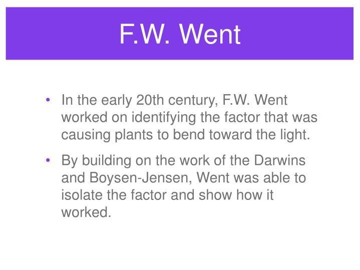F.W. Went