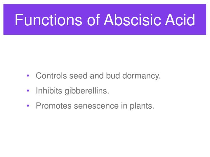 Functions of Abscisic Acid
