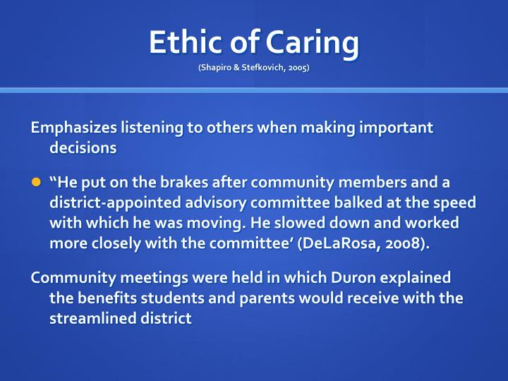 Ethic of Caring