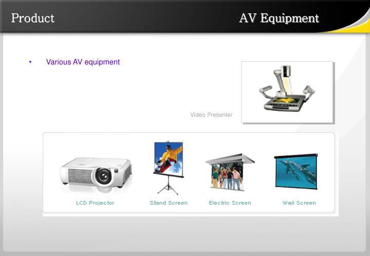 Product                                                AV Equipment