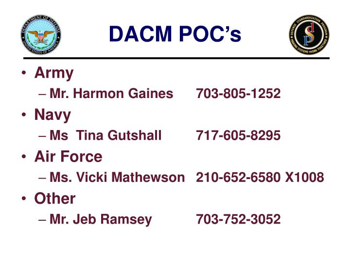 DACM POC's